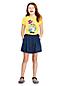 Little Girls' Short Sleeve T-shirt with Flip Sequin Motif
