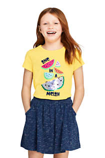 Little Girls Flip Sequin Graphic T Shirt, Front