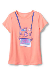 Little Girls Color Change Graphic T Shirt, alternative image