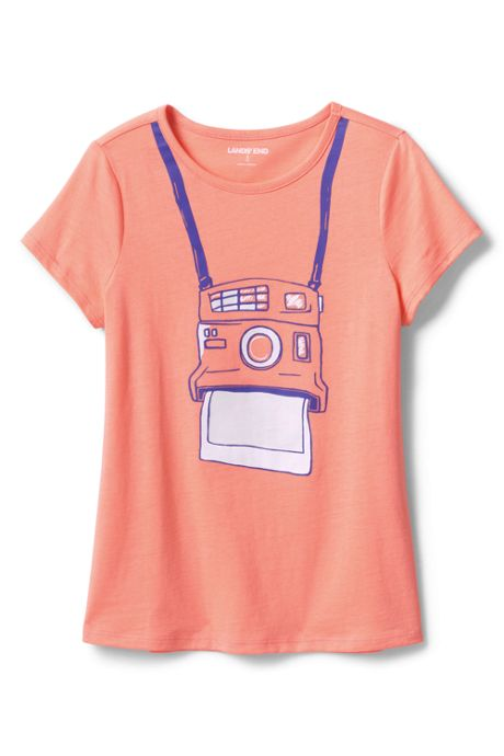 Little Girls Color Change Graphic T Shirt
