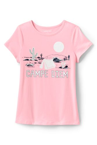 Little Girls' Cotton T-shirt With 'Sun-reactive' Graphic