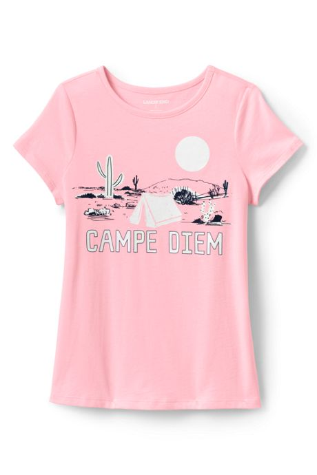 Girls Color Change Graphic T Shirt