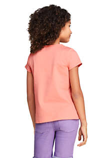 Little Girls Color Change Graphic T Shirt, Back