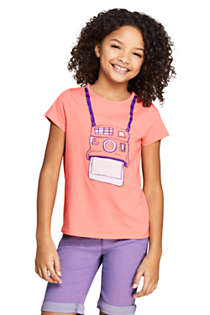 Little Girls Color Change Graphic T Shirt, Front