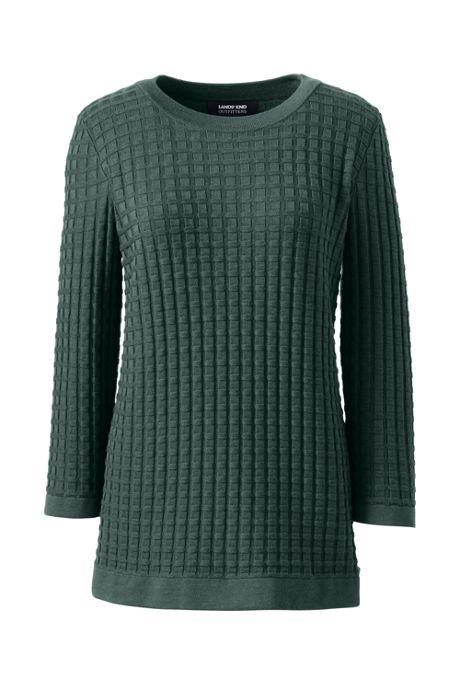 Women's Cotton Modal Textured Sweater