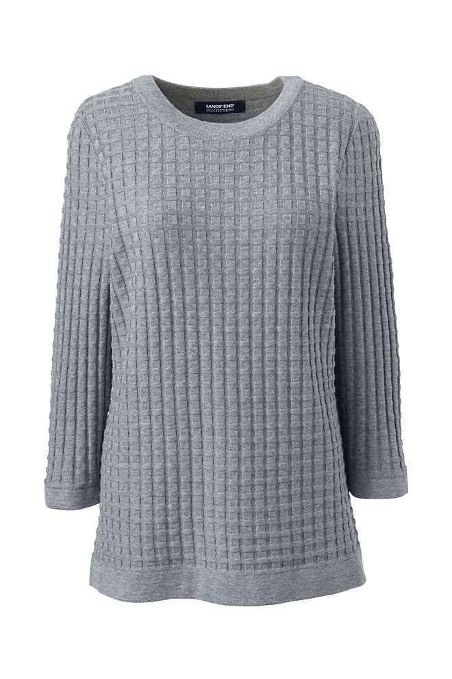 Women's Cotton Modal Textured Sweater, Front