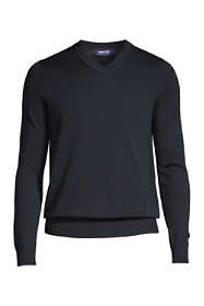 Men's Cotton Modal Tailored Fit V-neck Sweater