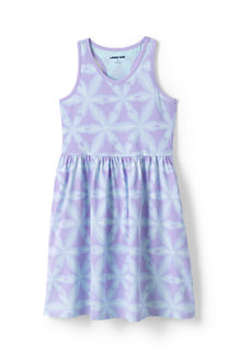Girls' Racer-back Cotton Jersey Dress, Print