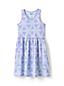 Girls' Racer-back Cotton Jersey Dress, Print