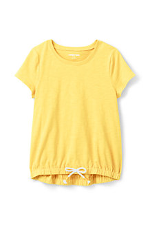 Girls' Cinched Hem Cotton Top