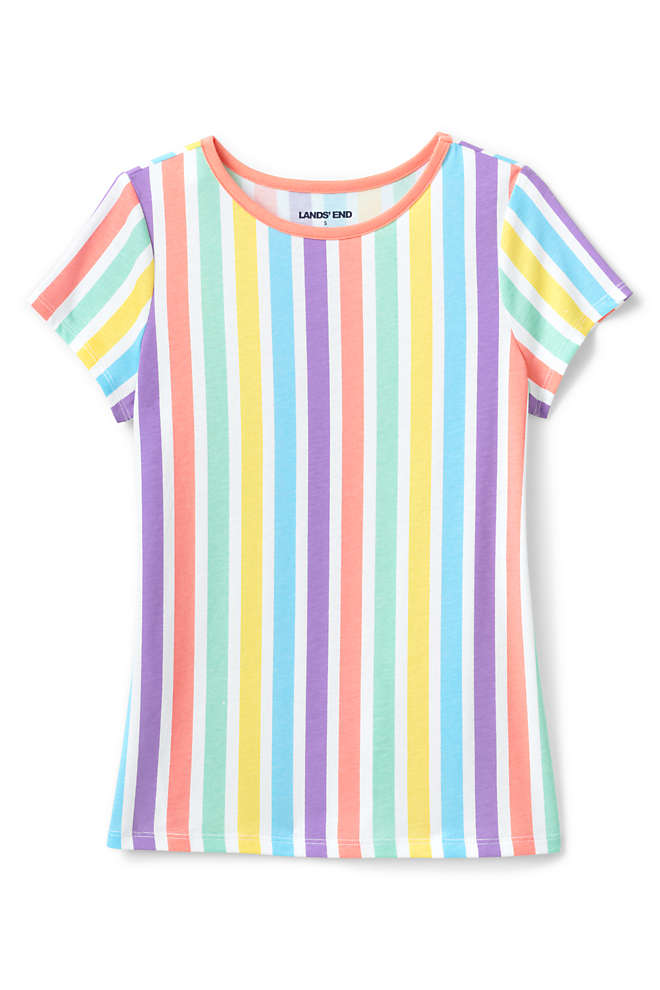 Little Girls Pattern T Shirt, Front