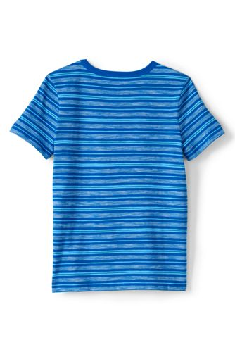 Little Boys Pattern Slub T Shirt
