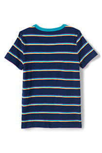 Boys Pattern Slub T Shirt, Back