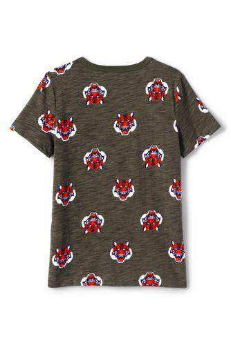 Toddler Boys Pattern Slub T Shirt