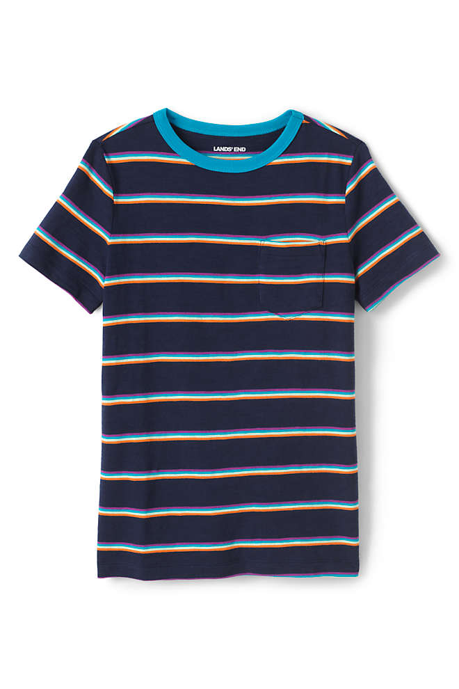 Boys Pattern Slub T Shirt, Front