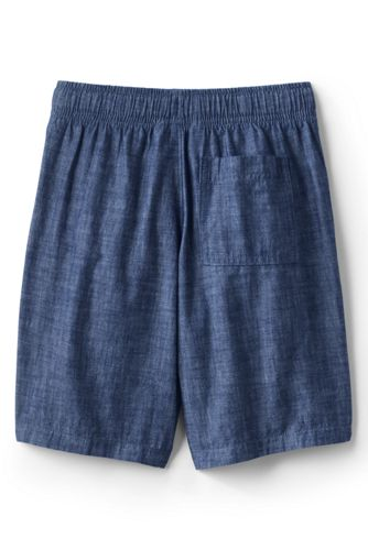 Boys Chambray Pull On Shorts
