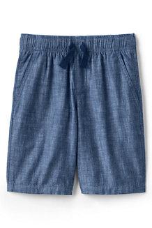 Schlupf-Shorts aus Baumwoll-Chambray für Jungen