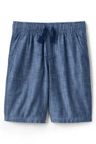 Boys Slim Chambray Pull On Shorts