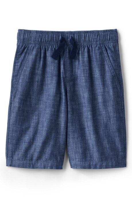 Little Boys Chambray Pull On Shorts
