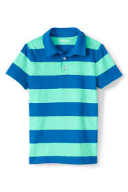 Boys Husky Pattern Slub Polo Shirt
