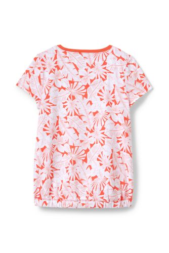 Girls Plus Print Cinched Waist Top