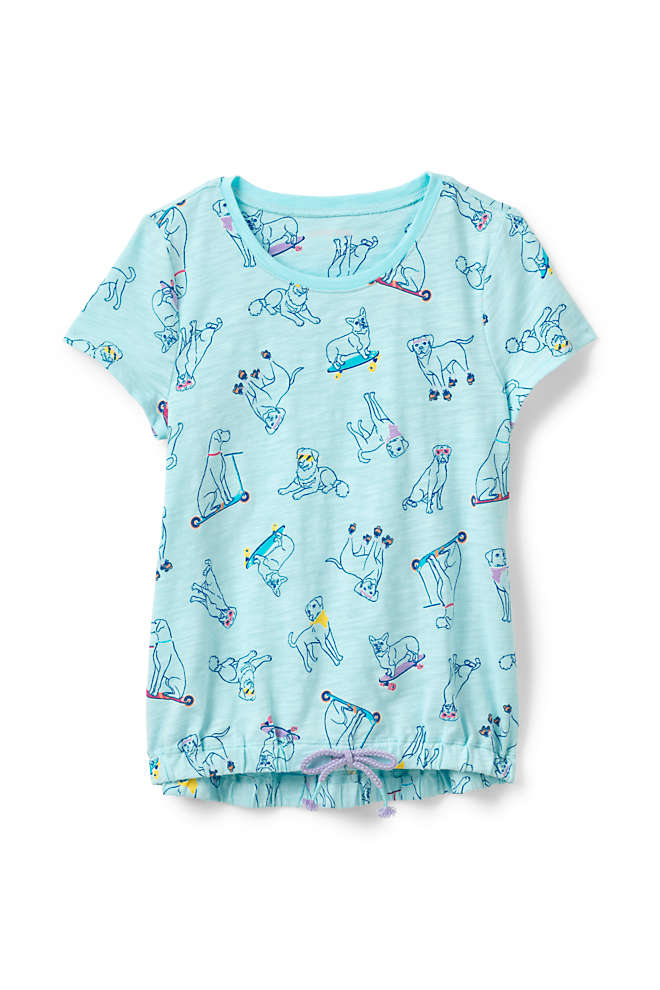Girls Print Cinched Waist Top, Front