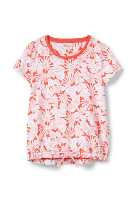Girls Print Cinched Waist Top