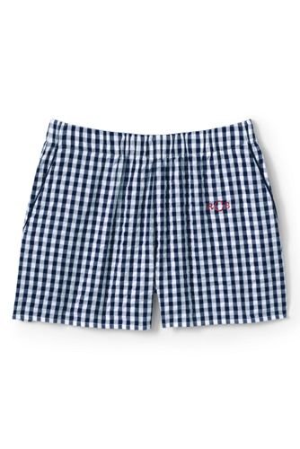 Women's Seersucker Cotton Pyjama Shorts