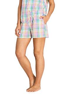 Pyjama-Shorts aus Baumwoll-Seersucker für Damen