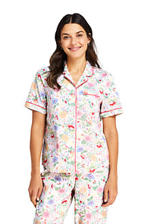 Women's Printed Cotton Pyjama Shirt