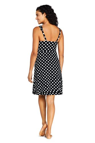 Women's DD-Cup Tummy Control Surplice Wrap Swim Dress One Piece Swimsuit Print