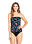 Women's Beach Living Bandeau Tankini Top, Print