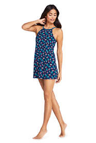 Women's Tummy Control High Neck Swim Dress One Piece Swimsuit Print