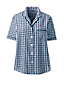 Chemise de Pyjama à Manches Courtes en Coton Seersucker, Femme Stature Standard