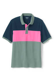 Men's Short Sleeve Colorblock Comfort-First Mesh Polo Shirt