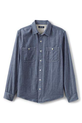Karo-Workerhemd für Herren, Classic Fit