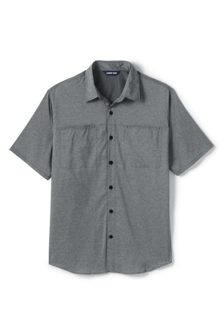 Men's Big and Tall Traditional Fit Short Sleeve Outrigger Hiking Shirt