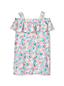 Schulterfreies Kleid mit Muster für große Mädchen