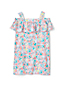 Girls' Cold Shoulder Ruffle Floral Print Dress