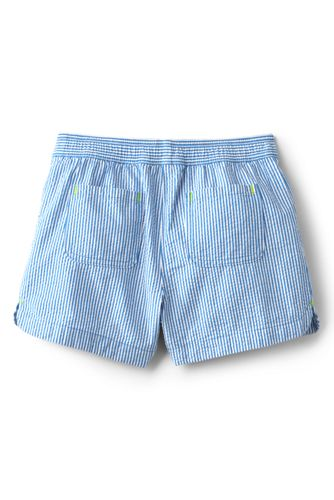 Girls Plus Seersucker Pull On Shorts