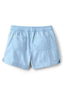 Little Girls Seersucker Pull On Shorts, Back