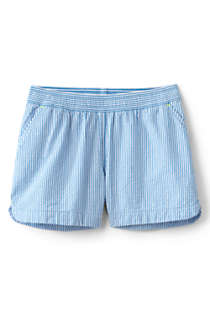 Little Girls Seersucker Pull On Shorts, Front