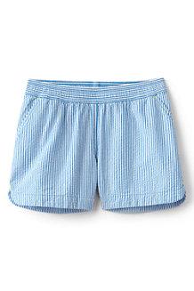 Shorts mit Schlüpfbund aus Baumwoll-Seersucker für Mädchen