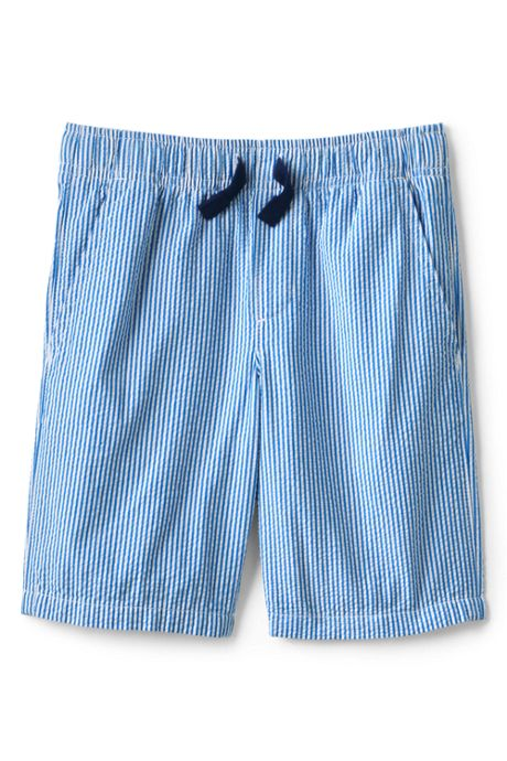 Little Boys Seersucker Pull On Shorts
