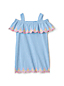 Little Girls' Cold Shoulder Embroidered Seersucker Dress