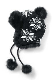 Women's Knit Fairisle Winter Trapper Hat