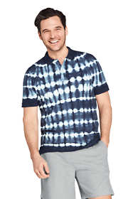 Men's Short Sleeve Comfort-First Tie Dye Mesh Polo Shirt