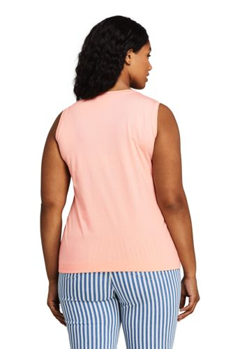 Women's Plus Size Supima Cotton Crew Neck Tank Top