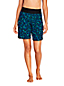Women's Plus 9ins Board Shorts, Print - with Swim Briefs