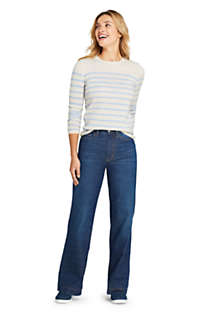 Women's Indigo Wide Leg Jeans, Unknown